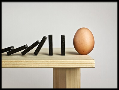 Buy this art print titled Domino Effect by the artist Mister Solo