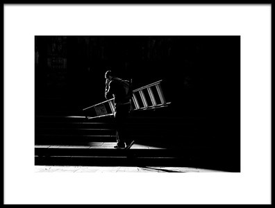 Art print titled Donde La Escalera Suba by the artist Ignasi Raventos