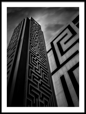 Buy this art print titled Double Maze by the artist khalid jamal