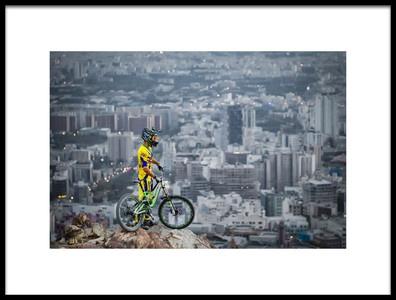 Art print titled Downhill by the artist Ehsan Minaeian