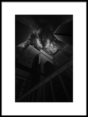 Art print titled Downtown Skyscrapers by the artist Henry Zhao