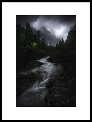 Art print titled Drama In Dolomites by the artist Luca Rebustini