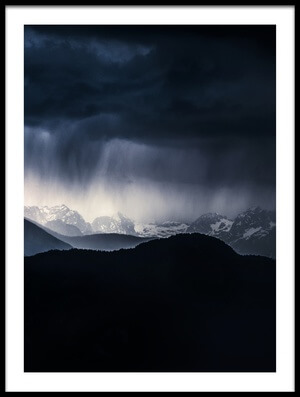Art print titled Drama In the Mountains by the artist Ales Krivec
