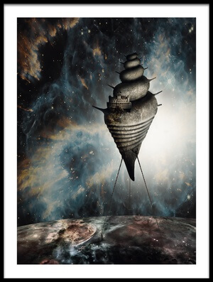 Buy this art print titled Dream House by the artist Roland Helerand