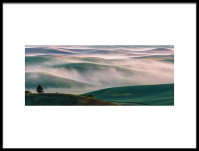 Art print titled Dream Land In Morning Mist1 by the artist 李从军 / Austin Li