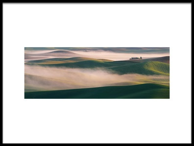 Art print titled Dream Land In Morning Mist2 by the artist 李从军 / Austin Li