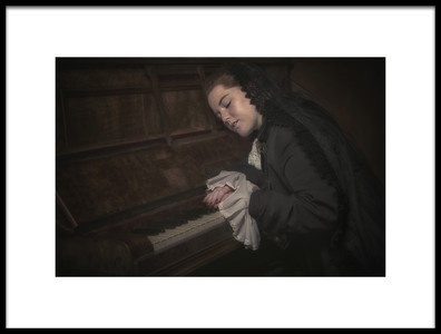 Art print titled Dreaming of My Music by the artist Carola Kayen-Mouthaan
