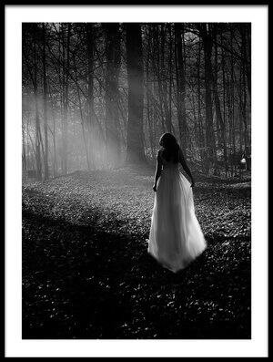 Art print titled Dressed Up In the Woods by the artist Kadir Erten