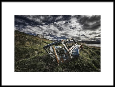 Art print titled Driving Away by the artist Bragi Ingibergsson - BRIN
