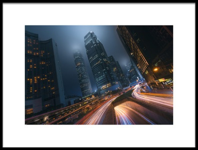 Art print titled Driving Hong Kong by the artist Javier de la Torre