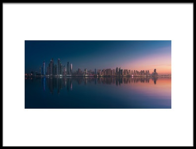 Art print titled Dubai Marina Skyline by the artist Javier de la Torre