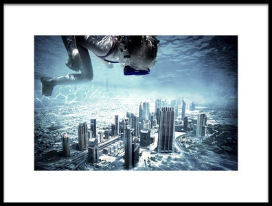 Art print titled Dubai Pool by the artist Marcus Hennen