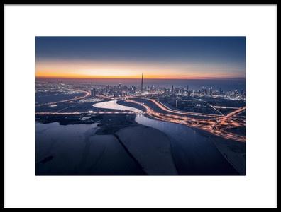 Art print titled Dubai Sunset by the artist Vview Chen