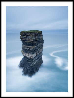 Art print titled Dun Briste Head by the artist Graham Kelly