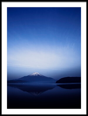 Art print titled Early Morning Blue Symbol by the artist Takashi Suzuki