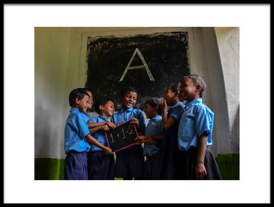 Art print titled Education Brings Happiness by the artist Sudipto Kumar Ghosh