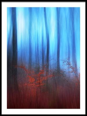 Art print titled Eerie Woods by the artist Gustav Davidsson