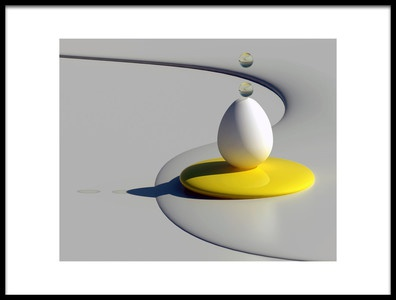 Art print titled Egg Shapes by the artist Antonyus Bunjamin (Abe)