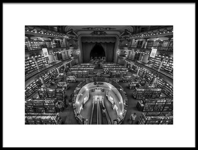 Art print titled El Ateneo Bookstores by the artist Hans Wolfgang Müller