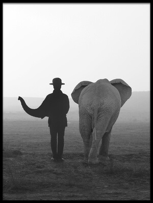 Art print titled Elephant Man by the artist ghazale ghazanfari