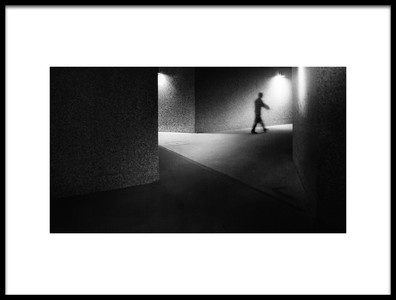 Art print titled Emptiness Corridor by the artist Laura Mexia