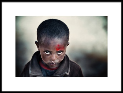 Art print titled Entoto Boy by the artist Trevor Cole