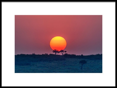 Art print titled Equatorial Sunset by the artist Jeffrey C. Sink