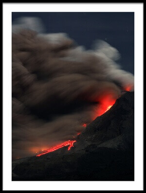 Art print titled Eruption & Lava by the artist Muhammad Fauzy Chaniago