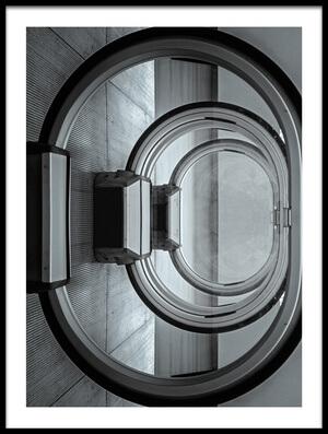 Art print titled Escalator Loop by the artist Henk van Maastricht