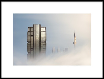 Art print titled Ethereal Skyline MkI by the artist Dr. Akira TAKAUE