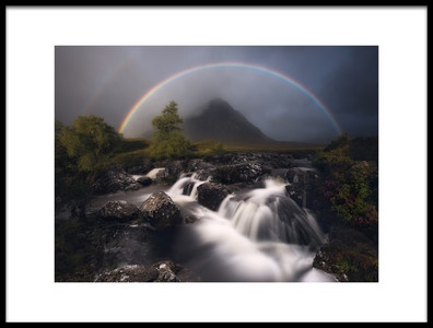 Art print titled Etive Rainbow by the artist Antonio Prado Pérez