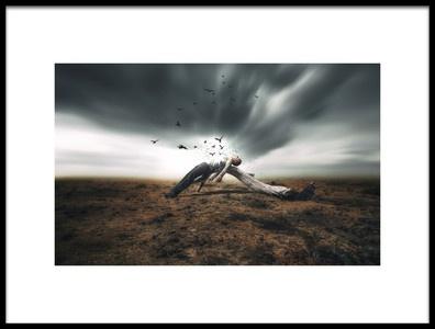 Art print titled Evasion by the artist Nuno Araujo