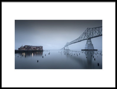 Art print titled Evening Mood  AstoriaMegler Bridge by the artist Robbert Mulder