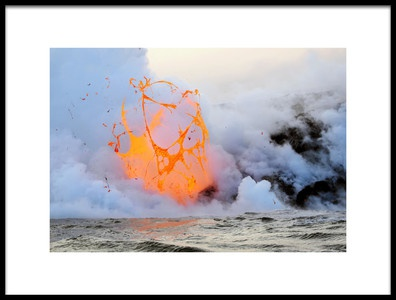Art print titled Exploding Lava Bubble by the artist Patrick Arrigo