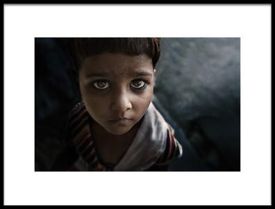 Art print titled Eyes Boy by the artist Mahdi Albrahem