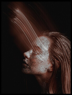 Art print titled Face Rays by the artist Artem Vasilenko