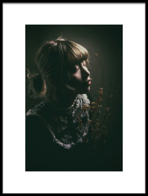 Art print titled Face Soft Light by the artist Masatoshi Washimi