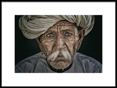 Art print titled Faces of India by the artist ahmadalsubhi