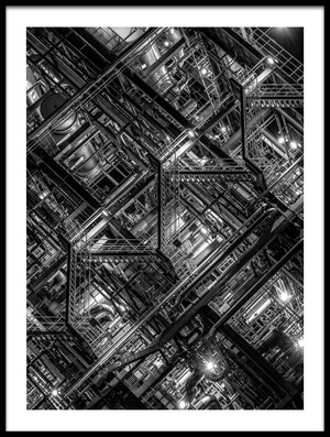 Buy this art print titled Factory Staircase by the artist Tomoshi Hara