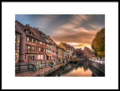 Art print titled Fall In Colmar by the artist Zbyszek Nowak