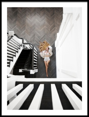 Buy this art print titled Falling Angle by the artist Carmit Rozenzvig