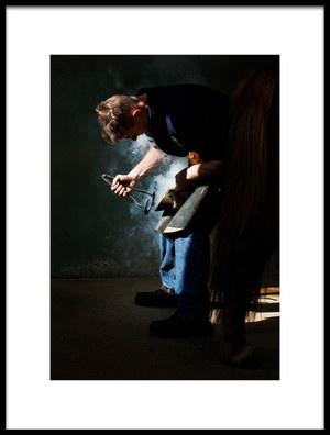 Buy this art print titled Farrier at Work by the artist Gert van den Bosch