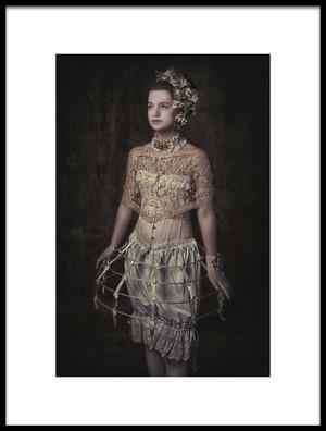 Art print titled Fashion Girl by the artist Carola Kayen-Mouthaan