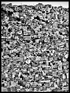 Buy this art print titled Favela Village In El Alto, La Paz, Bolivia by the artist joel alvarez