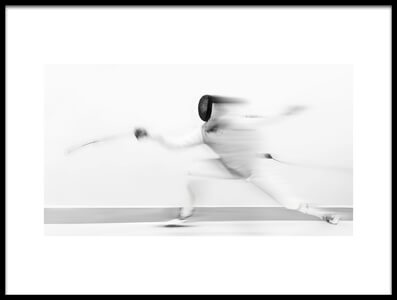 Art print titled Fencing by the artist Larry Deng