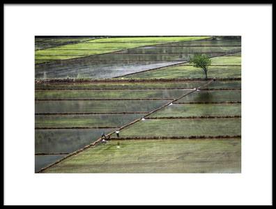 Art print titled Fields and Two Mens by the artist şirin aktürk