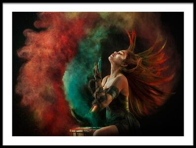 Buy this art print titled Fire Dance by the artist Sebastian Kisworo