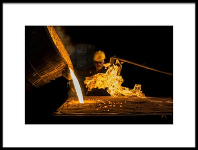 Art print titled Fire Dance by the artist Yasemin Bakan