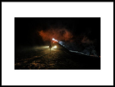 Art print titled Fireman Amp the Fire Engine by the artist Rabia Basha