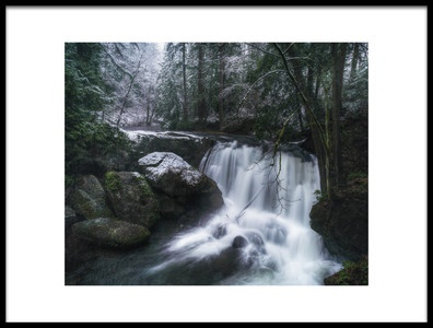 Art print titled First Snow at the Falls by the artist James K. Papp